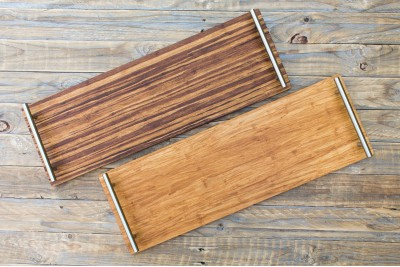 Long Bamboo Serving Platter : With Handles