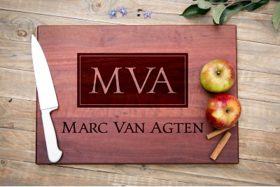 Personalised Chopping Board : Classic Monogram