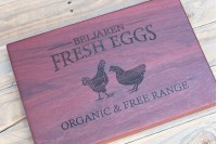 Personalised Chopping Board : Farm Fresh Eggs