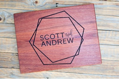 Personalised Chopping Board : Hexagons