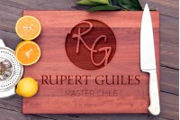 Personalised Chopping Board : Circular Monogram with Chef Title