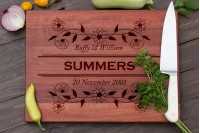 Personalised Chopping Board : Flannel Flowers