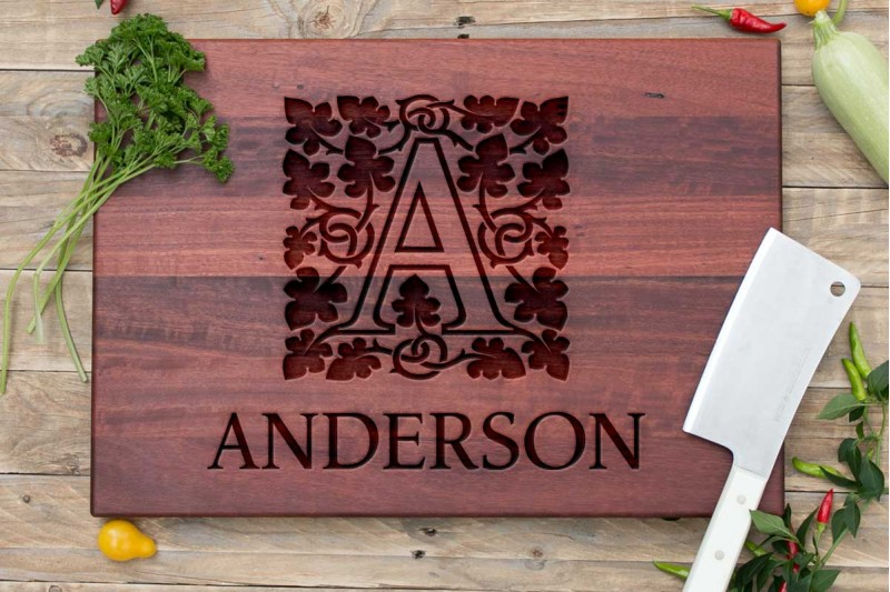Personalised Chopping Board : Monogram : Ivy