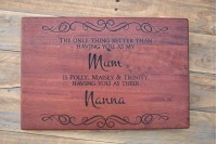 Personalised Chopping Board : Parents & Grandparents