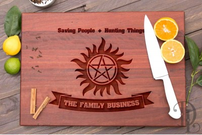 Chopping Board : Supernatural Sun and Family Crest
