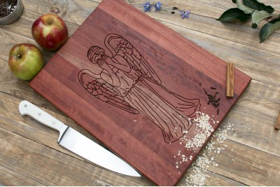 Chopping Board : Weeping Angel