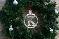 Christmas Baubles : Initial : Silver & Gold