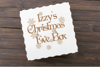 Christmas Eve Box : Individual : Engraved : Snowflakes