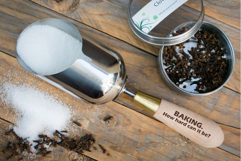 Personalised Dry Goods Scoop : Stainless Steel
